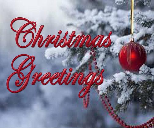 CHRISTMAS GREETINGS CANDLE