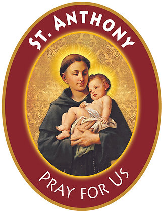 ST. ANTHONY PRAY FOR US CANDLE