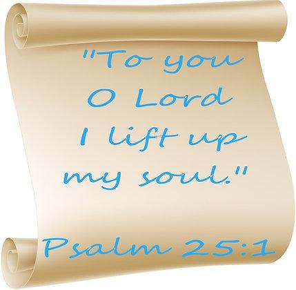 PSALM 25:1 PRAYER CANDLE