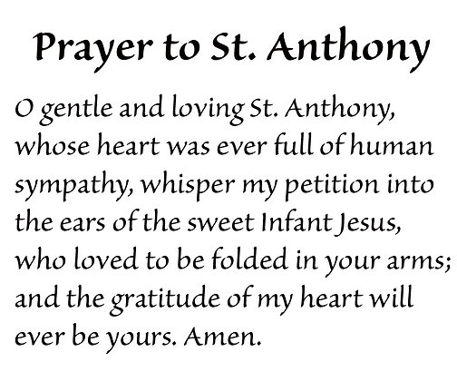 PRAYER TO ST. ANTHONY CANDLE