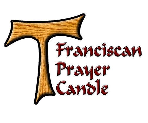 TAU FRANCISCAN PRAYER CANDLE