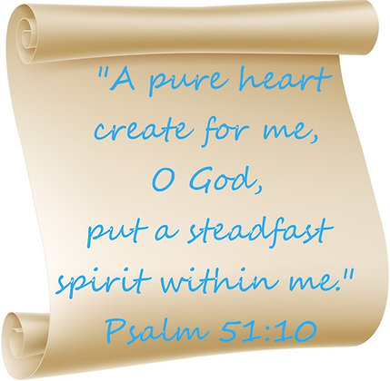 PSALM 51:10 PRAYER CANDLE
