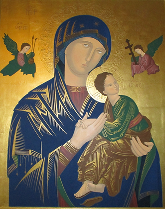OUR LADY OF PERPETUAL HELP CANDLE