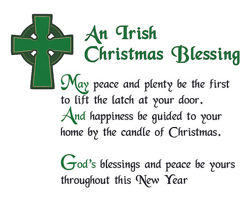 IRISH CHRISTMAS BLESSING CANDLE