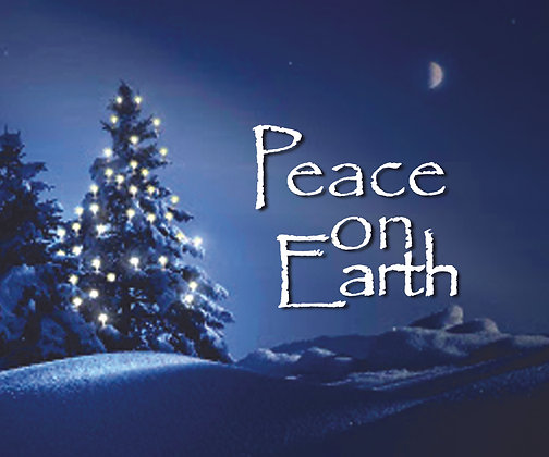 PEACE ON EARTH CHRISTMAS CANDLE