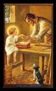ST. JOSEPH THE CARPENTER CANDLE