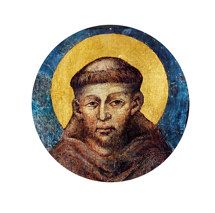 ST. FRANCIS BY CHIMABUE CANDLE