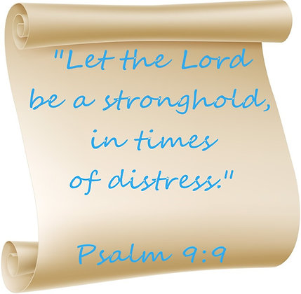PSALM 9:9 PRAYER CANDLE