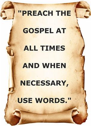 PREACH THE GOSPEL CANDLE