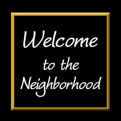 WELCOME TO THE NEIGHBORHOOD CANDLE