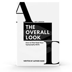 Book cover designed for a book about typ