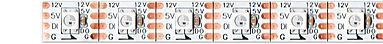 Strip led dinamico programmabile 60 led/mt 60 pixel 12V