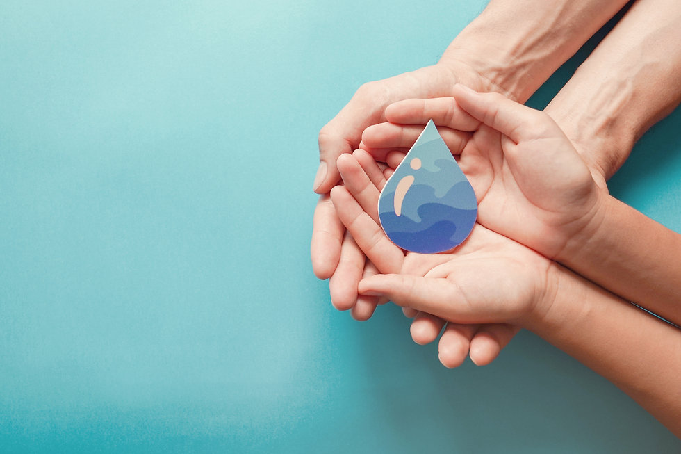 Hands holding clean water drop,world wat