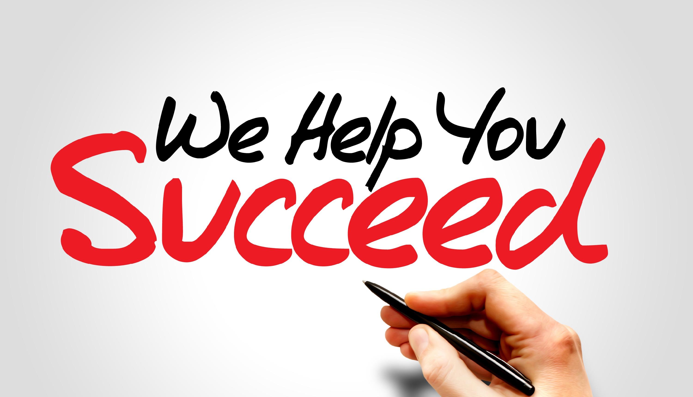 Hand writing We Help You Succeed, busine