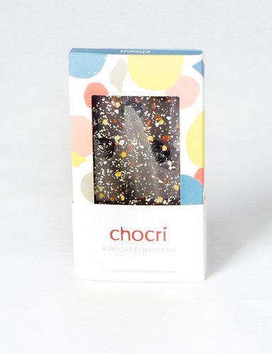 """chocri """"Kirschfeuerwerk"""" Schokolade (100 g)"""