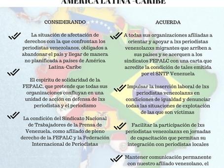 Fepalc aprueba acuerdo de cooperación con periodistas venezolanos