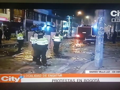 Colombia: Rechazo a la violencia contra trabajadores de prensa durante protestas