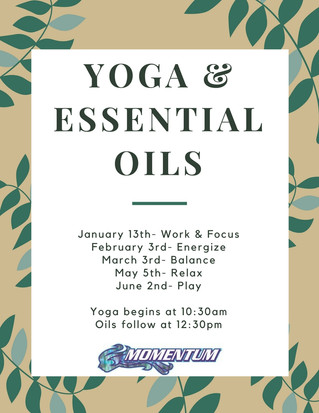 Saturday Yoga & Essential Oils