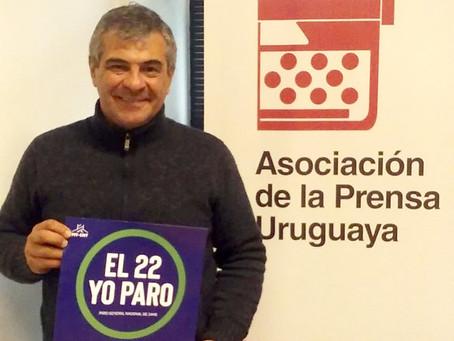 Asociación de Prensa de Uruguay llama a sumarse a paro general de 24 horas