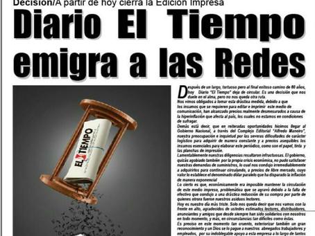 Estado andino de Venezuela se queda sin medios impresos por falta de insumos