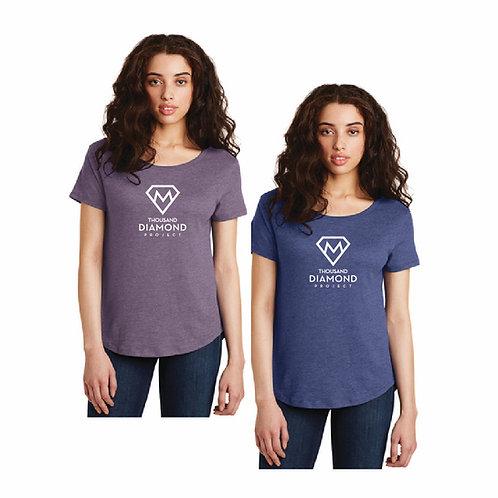 Ladies Scoop Neck T-shirt (short sleeve)