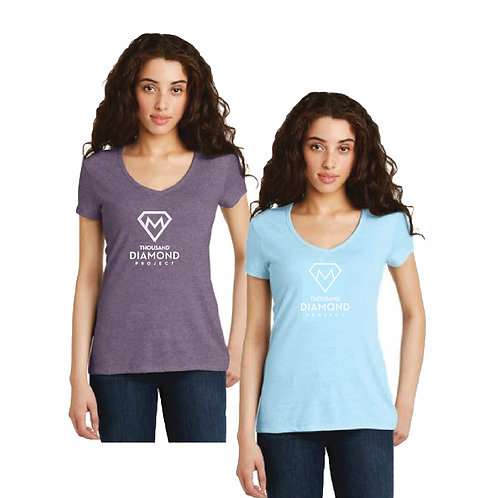 Ladies V-neck T-shirt (short sleeve)