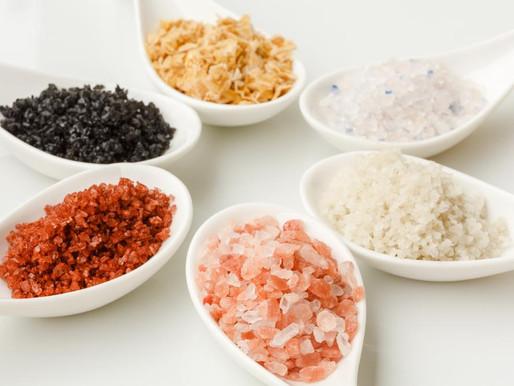 Diferenças entre alguns tipos de sal.