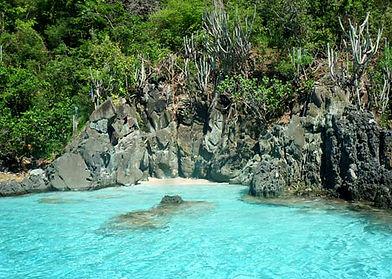 Mermaid's Chair Beach St. John STJ USVI U.S. Virgin Islands Secluded Beach Swim Swimming Adventure
