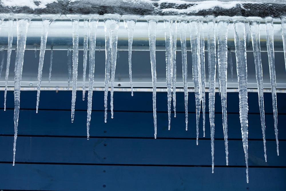 Winter Storm Maintenance Gutter Icicle Ice Buildup Prevention