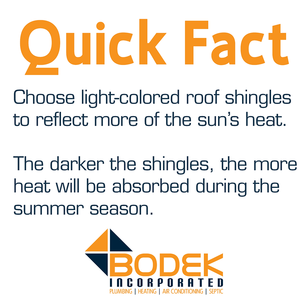 Light colored shingles reflect more light keeping your home and attic cooling in the hot Binghamton sun.