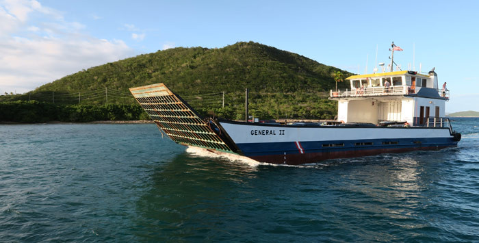 STT STJ Car Ferry Barge Services Schedule Information