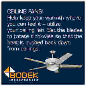 Utilize Your Ceiling Fan In The Winter To Keep Warm