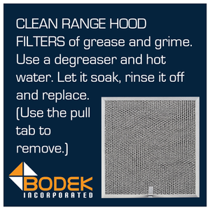 range hood filters ventilation screen clean grease grime replace