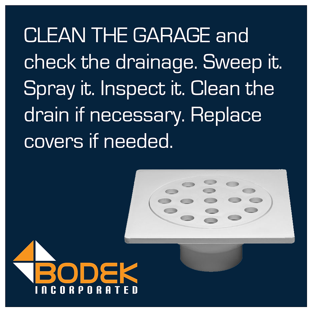 Garage Cleaning Drains Inspect Repair Clean Clog