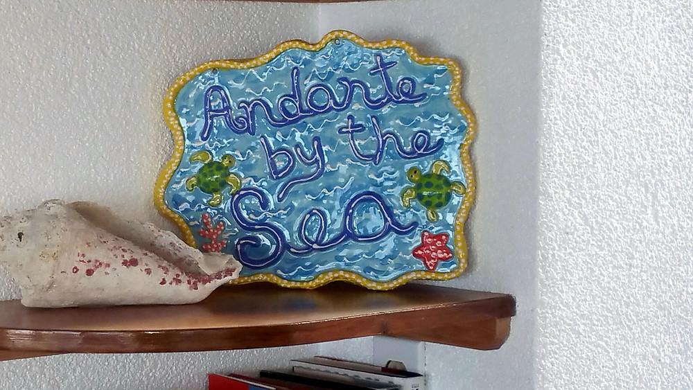 Andante by the Sea Ceramic Plaque