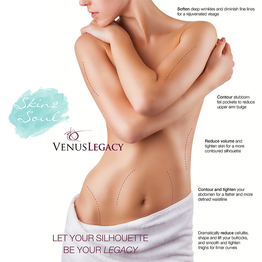 Venus Legacy Skin2Soul Care Skin Wrinkles Cellulite Contour Reduce Treatment