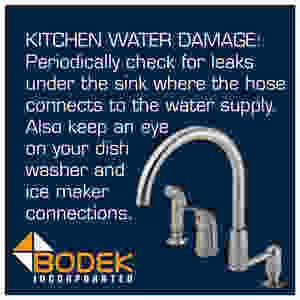 Avoiding Kitchen Water Damage