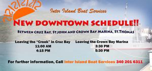 Inter Island Boat Services St John to St Thomas