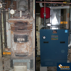Boiler Replacement Before & After