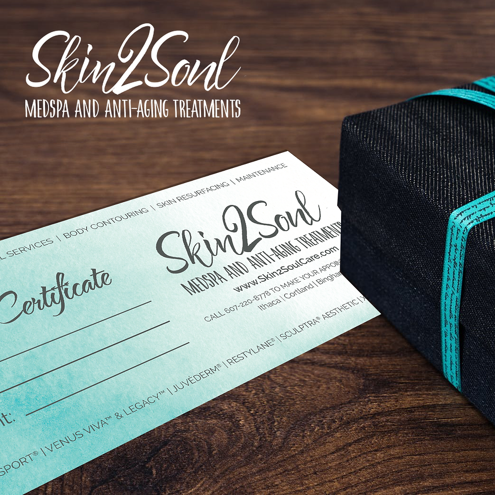 Skin2Soul Gift Certificate Holidays Present