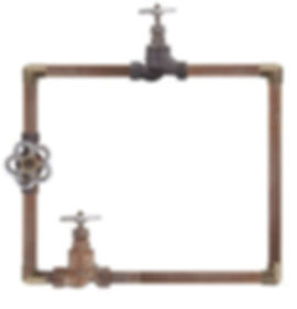Pipes with shutoffs and cross connections