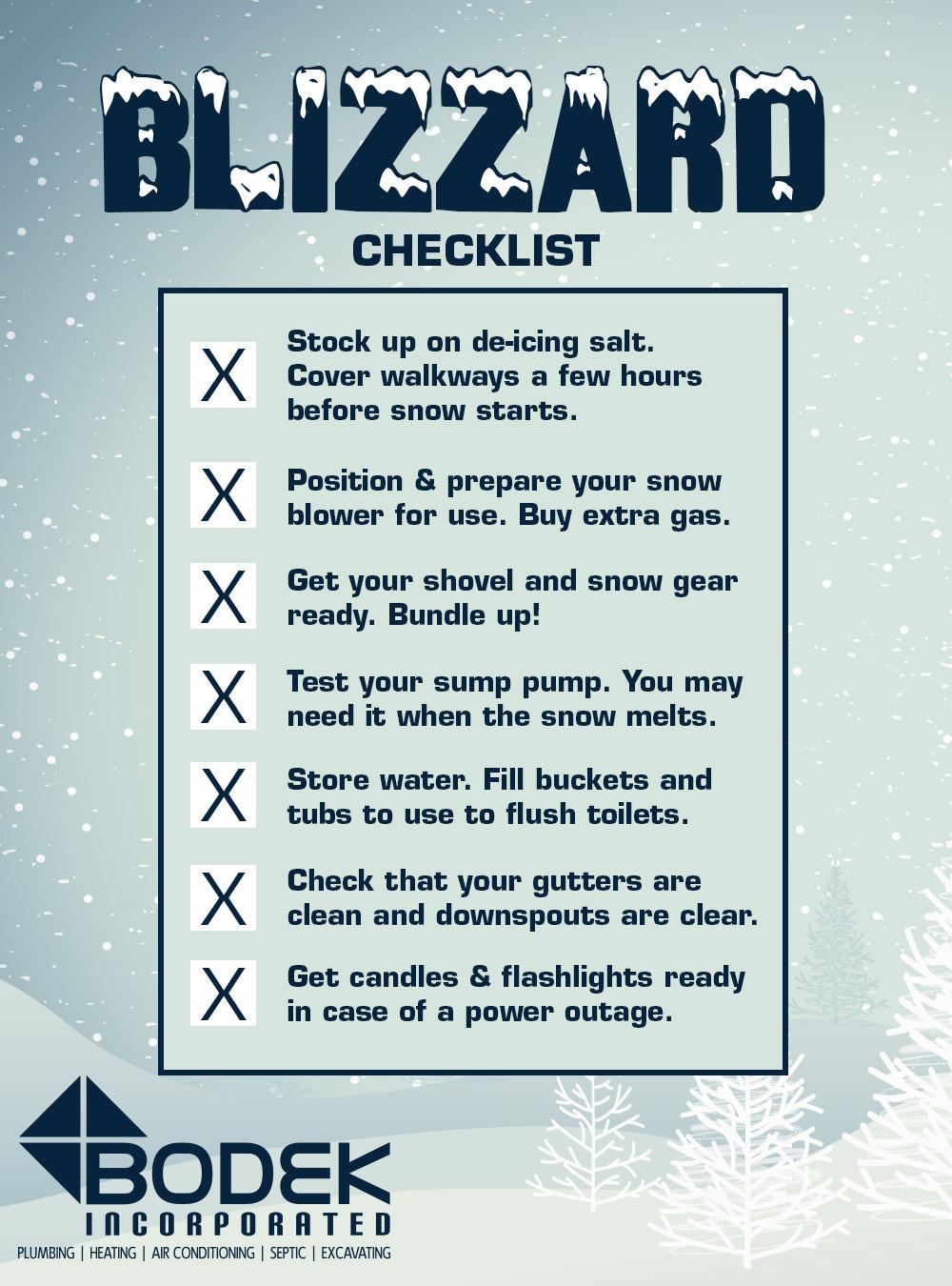 Blizzard Checklist
