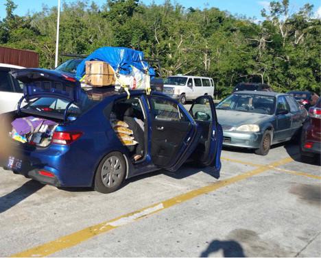 St Thomas Supplies Trip Car Ferry