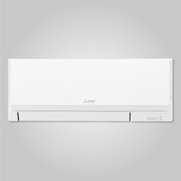 Mitsubishi Electric Ductless Mini-Split Heating & Cooling Wall Mount Grey Background