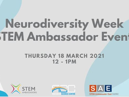 STEM Ambassadors: Working with young people with neurodiverse needs