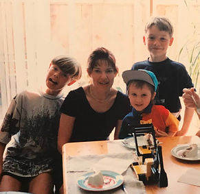Sigrid Lightfoot and her 3 sons
