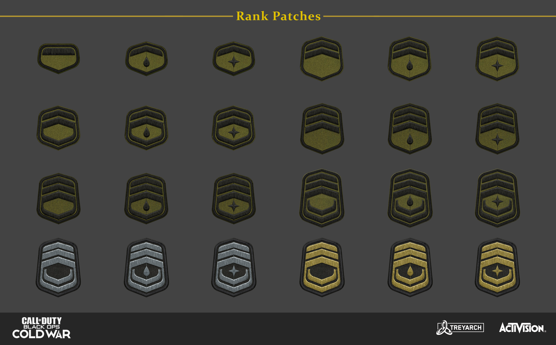 Enlisted Rank Patches