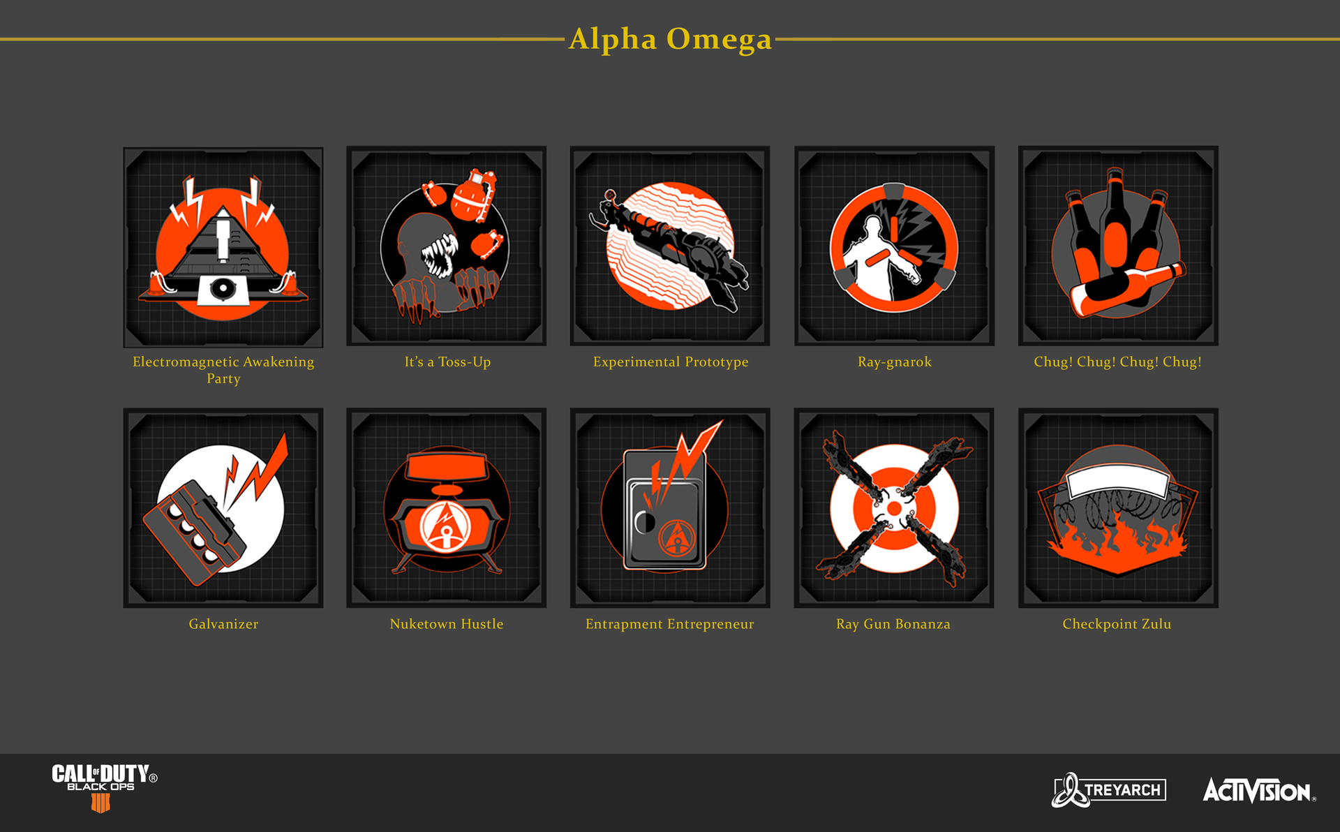 Alpha Omega Achievement Icons