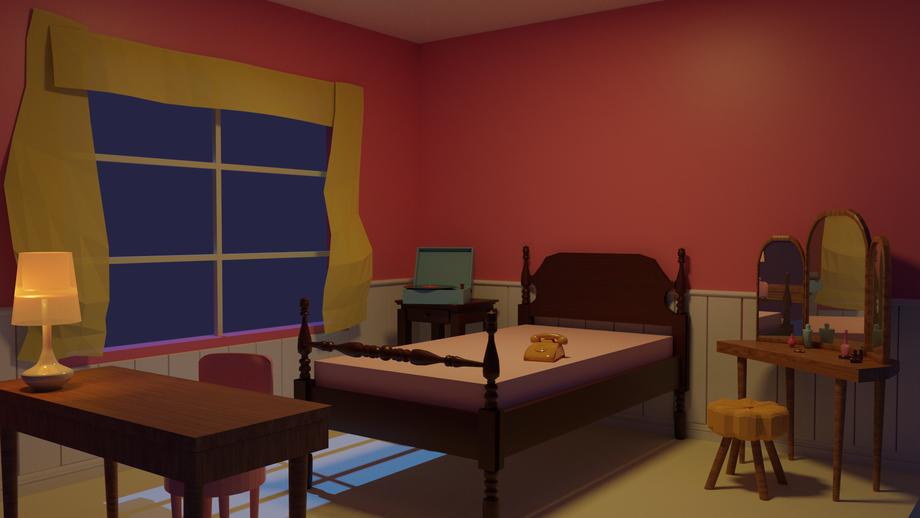 Night in Dorothy's Room 3D blockmesh