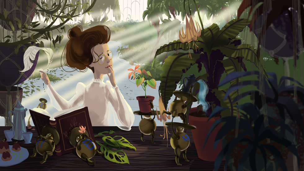 Helping in the Garden